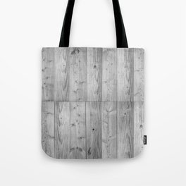 Wood Planks in black and white Tote Bag