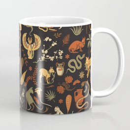Egyptian house guardians | black Coffee Mug