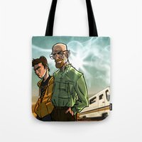 breaking bad Tote Bags featuring Breaking Bad by Adrien ADN Noterdaem