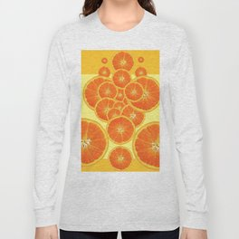 CONTEMPORARY ORANGE SLICES  ABSTRACT MODERN ART Long Sleeve T-shirt