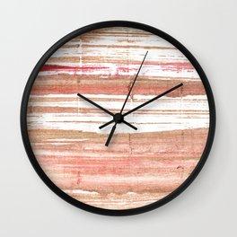 Tumbleweed abstract watercolor Wall Clock
