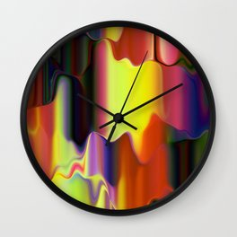 Dripping Paint Wall Clock