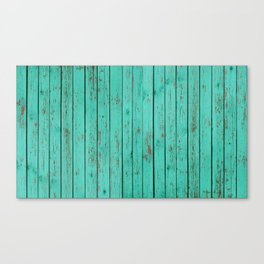wood turquoise new art grid wod color fun pattern texture style 2018 2019 artist floor wall new Canvas Print