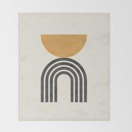 Mid century modern - half sun arch Throw Blanket