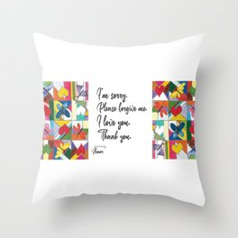 Mosaic of Love Throw Pillow