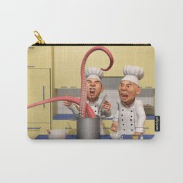 Too Many Cooks - The Food Strikes Back - Funny Chef Artwork Carry-All Pouch
