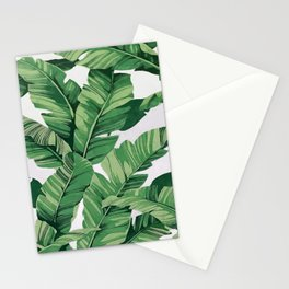 Tropical banana leaves VI Stationery Cards