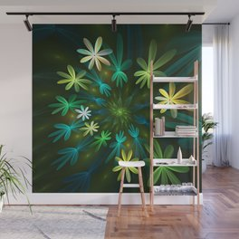 Fantasy Flowers, Fractal Art Wall Mural
