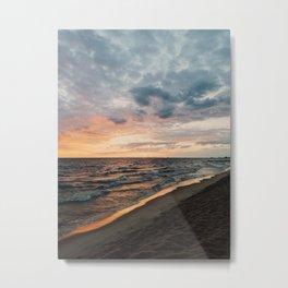 Vibrant Sunset on Lake Michigan Metal Print