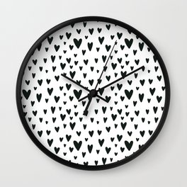 black and white Scandinavian Nursery Prints patterns Wall Clock