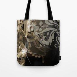 Sparkly Chandelier & Damask Tote Bag