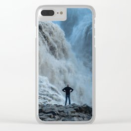 Staring into the power Clear iPhone Case
