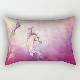 Purple horse Rectangular Pillow