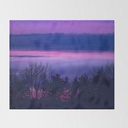 violet forest Throw Blanket