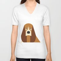 the hound V-neck T-shirts featuring Basset Hound by Page 84 Design
