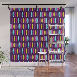 Surf's Up Multicoloured Surfboard Pattern Wall Mural