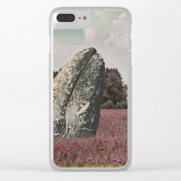 wild whale wood flower Clear iPhone Case