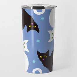 Cats Blue Travel Mug