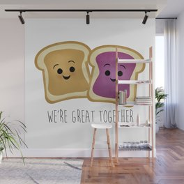 We're Great Together - Peanut Butter & Jelly Wall Mural