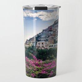 Positano cityscape, Italy Travel Mug