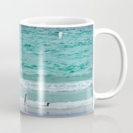 Falkland Island Seascape with Penguins Coffee Mug