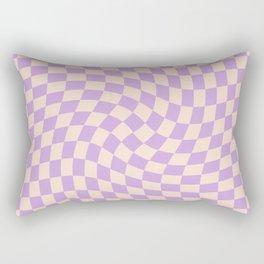 Check V - Lilac Twist — Checkerboard Print Rectangular Pillow