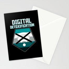 Digital Detoxification Offline Airplane Modus Stationery Cards