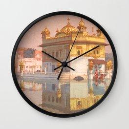 Golden Temple of Amritsar by Yoshida Hiroshi - Japanese Vintage Ukiyo-e Woodblock Painting Wall Clock