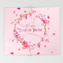 I Cast Zone of Truth Throw Blanket