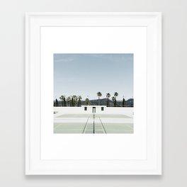 tennis at hearst Framed Art Print