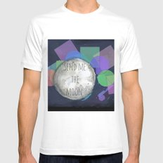 send me the moon MEDIUM Mens Fitted Tee White