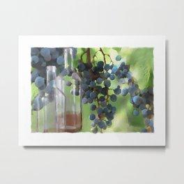 niagara wine country / grapes  / digital painting Metal Print