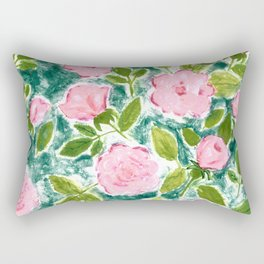 Roses in Bloom Rectangular Pillow