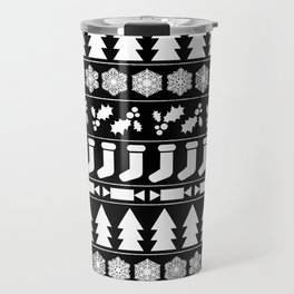 White Christmas Travel Mug