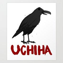 Black Raven and Crow Rose Uchiha Designs Eye Cycle Image Kids Art Picture Art Print