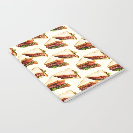 Sandwich Pattern BLT Notebook