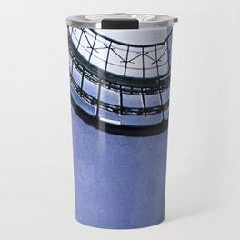 Blue spiral staircase Travel Mug