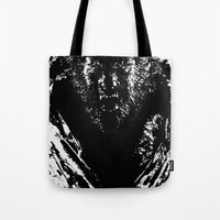 werewolf Tote Bags featuring Werewolf by PCRK