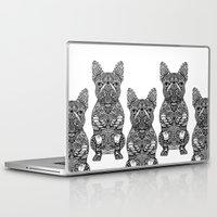 frenchie Laptop & iPad Skins featuring Mandala Frenchie by Huebucket