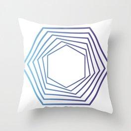 Sechs Sechsecke Throw Pillow