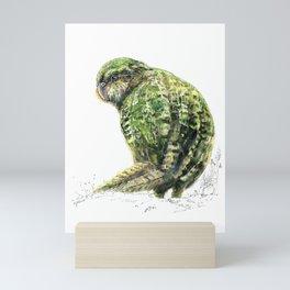 Mr Kākāpō Mini Art Print