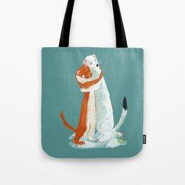 Weasel hugs Tote Bag