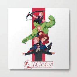 Team Cap and Team Stark Metal Print