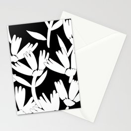 Big daisy black and white Stationery Cards