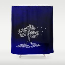Wind On a Blue Day Shower Curtain
