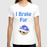 mario kart T-shirts featuring I Brake For Blue Shells (Mario Kart)  by Don Enrique