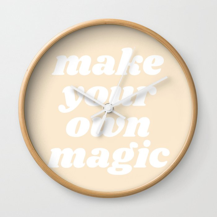 make your own magic Wall Clock by typutopia