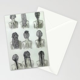 hair(lines) Stationery Cards