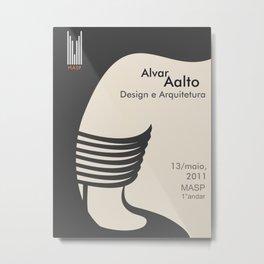 Exhibition poster-Alvar Aalto-Design e Arquitetura. Metal Print