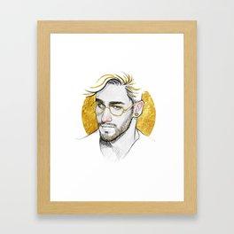 Golden Glasses Framed Art Print
